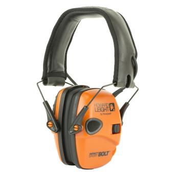 Howard Leight Impact Sport Bolt, Earmuff, Orange, Electronic, Folding R-02231, UPC : 033552022312