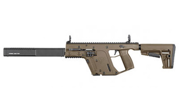 """KRISS USA, Inc VECTOR CRB, Semi-automatic, Carbine, 9MM, 16"""", Flat Dark Earth, DEFIANCE KRISS Stock, Back-Up Front & Rear Sight, M4 Stock, 1 Mag, Threaded, 17Rd, Flip Up Front and Rear KV90-CFD20, UPC :810237023112"""
