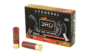 "Federal 3rd Degree, 12 Gauge 3"", #5/#6/#7 Shot Combination, 1.75oz, Flight Control, 5 Round Box PTDX157 567, UPC :604544626612"