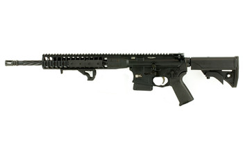 "LWRC Direct Impingement Rifle, Semi-automatic Rifle, 223 Rem/556NATO, 16.1"" Cold Hammer Forged Spiral Fluted Heavy Barrel, 1:7 Twist, Black Finish, LWRCI Compact Stock, Magpul MOE+ Grip, 10Rd, LWRCI Modular Free Float Rail, LWRCI Rail Panels, LWRCI A"