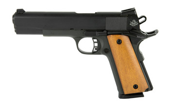 "Armscor Rock Island 1911, Full Size Pistol, 45ACP, 5"" Barrel, Steel Frame, Blue Finish, Rubber Grips, Fixed Sights, Ambidextrous Safety, 1 Magazine, 8 Rounds 51431, UPC :4806015514312"
