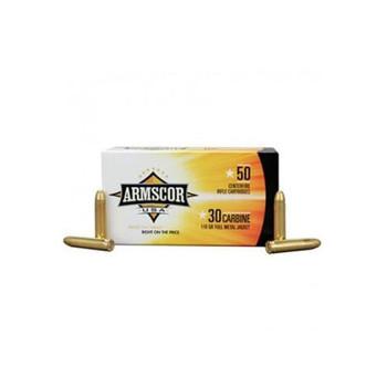 Armscor 30 Carbine, 110 Grain, Full Metal Jacket, 50 Round Box FAC30C-1N, UPC :812285020112