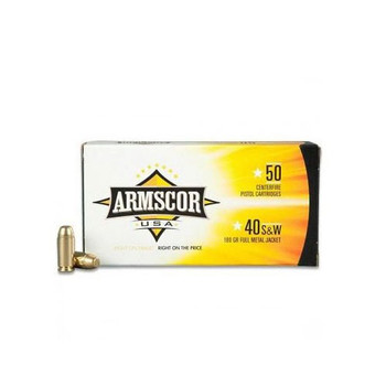 Armscor 40 S&W, 180 Grain, Full Metal Jacket, 50 Round Box FAC40-2N, UPC :812285020082