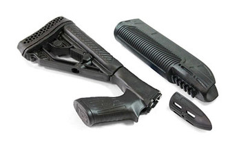 Adaptive Tactical EX Performance Tactical Light and Forend, Fits Remington 870 12 Gauge, 300-Lumen beam, Black Finish AT-02900, UPC :682146911312