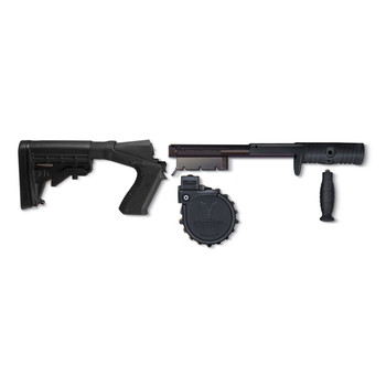 Adaptive Tactical Venom, Conv Kit, 12Ga, Black, Kit Includes 10Rd Drum Mag, Standard Forend and Stock, Mossberg SE-500 Series, 10Rd AT-03000, UPC :682146910292