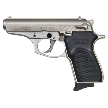 "Bersa Thunder, Double Action, Compact, 22LR, 3.5"" Barrel, Alloy Frame, Nickel Finish, Polymer Grips, Fixed Sights, 1 Magazine, 10 Rounds T22NKL, UPC : 091664900232"