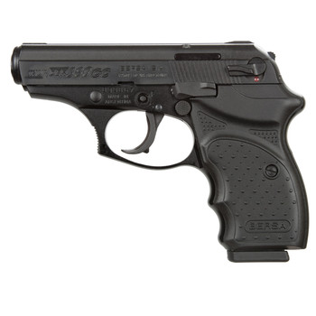 """Bersa Concealed Carry Thunder, Double Action, Compact, 380ACP, 3.5"""" Barrel, Alloy Frame, Blue Finish, Polymer Grips, Fixed Sights, 8Rd, 1 Magazine THUN380MLTCC, UPC : 091664903752"""