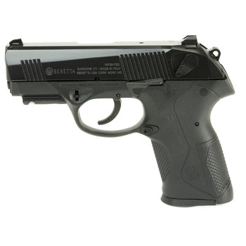 "Beretta PX4 Storm, Semi-automatic, Double Action, Compact Pistol, 9MM, 3.2"" Barrel, Polymer Frame, Black Finish, 15Rd, 2 Mags, Picatinny Rail, Ambidextrous, 3 Dot Sights JXC9F21, UPC : 082442154282"