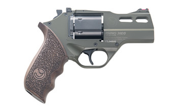 "Chiappa Firearms Rhino, 30DS, Revolver, Double Action/Single Action, 357 Magnum, 3"" Barrel, Alloy Frame, Hunter OD Green Finish, Walnut Grips, 6Rd, 3 Moon Clips, Adjustable Rear Sight and Fiber Optic Front Sight 340.285, UPC :8053800940122"