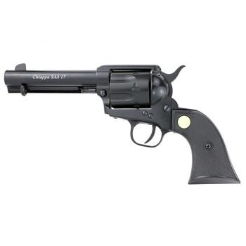 """Chiappa Firearms 1873 SA, Revolver, Single Action, 17HMR, 4.75"""", Alloy, Black, 6Rd CF340.261, UPC :8053670717022"""