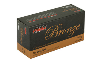 PMC Bronze, 38 Special, 132 Grain, Full Metal Jacket, 50 Round Box 38G, UPC :741569070102