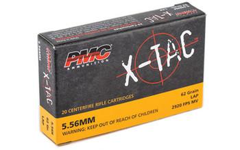 PMC XTAC, 556NATO, 62 Grain, LAP, 20 Round Box 5.56K, UPC :741569010122