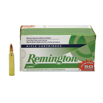 Remington UMC, 223 Rem, 55 Grain, Full Metal Jacket, 50 Round Box 23966, UPC : 047700398402