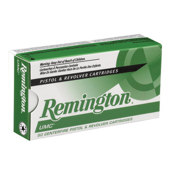Remington UMC, 38 Special, 130 Grain, Full Metal Jacket, 50 Round Box 23730, UPC : 047700076102