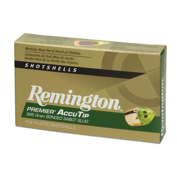 "Remington AccuTip, 12 Gauge, 2.75"", 385 Grain, Sabot Slug, 5 Round Box 20727, UPC : 047700333502"