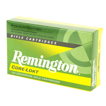 Remington Core Lokt, 30-06, 180 Grain, Pointed Soft Point, 20 Round Box 27828, UPC : 047700054902