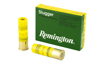 "Remington Slugger, 20 Gauge, 2.75"", 5/8 oz., Rifled Slug, 5 Round Box 20616, UPC : 047700021102"