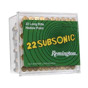 Remington Subsonic, 22LR, 38 Grain, Hollow Point 21141, UPC : 047700481302