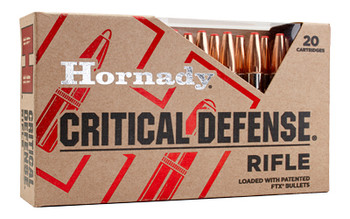 Hornady Critical Defense Rifle,  223 Remington, 55 Grain, FlexTip, 20 Round Box 80270, UPC : 090255802702