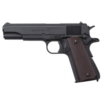 "Auto Ordnance 1911, Semi-automatic, 9MM, 5"", Steel, Black, Plastic Grips, 9 Rounds 1911BKO9, UPC :602686321112"