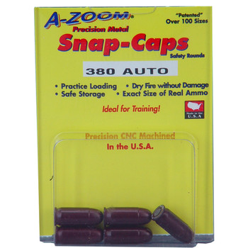 A-Zoom Snap Caps, 380 ACP, 5 Pack 15113, UPC :666692151132