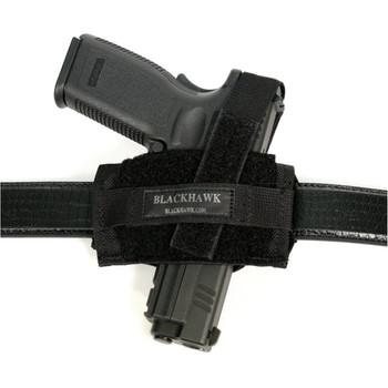 BLACKHAWK! Flat Belt Holster, Fits Medium Revolvers, Ambidextrous, Black 40FB02BK, UPC :648018003202