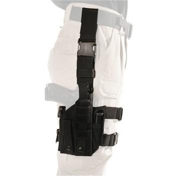 BLACKHAWK! Omega VI Ultra Holster, Universal Handgun Fit Equipped With Light or Laser, Ambidextrous, Black 40MLH1BK, UPC :648018027192