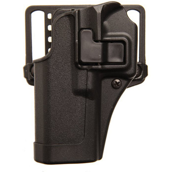 BLACKHAWK! CQC SERPA Holster With Belt and Paddle Attachment, Fits Glock 17/22/31, Left Hand, Carbon Fiber, Black 410500BK-L, UPC :648018013812