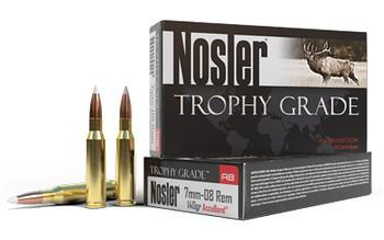 Nosler Rifle, 7MM-08, 140 Grain, AccuBond, 20 Round Box 60042, UPC : 054041600422