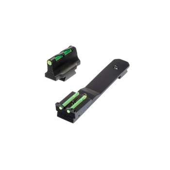 Hi-Viz Litewave, Front & Rear Sight Set, Fits Henry Rifles, Front Sight Includes Green Red And White Litepipes, Rear Sight Includes Two Non-Replaceable Green Litepipes HHVS500, UPC :613485589412