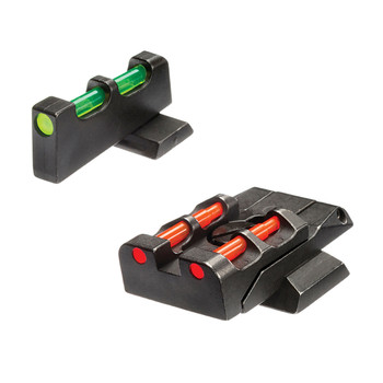 Hi-Viz Interchangeable Front & Rear Sight Set, Fits S&W M&P Full Size & Pro Pistols in 9MM/40 S&W/45 ACP (Does Not Fit CORE), Front Sight Includes Green Red White Litepipes, Rear Includes Green Red Black Litepipes SWMPE21, UPC :613485589382