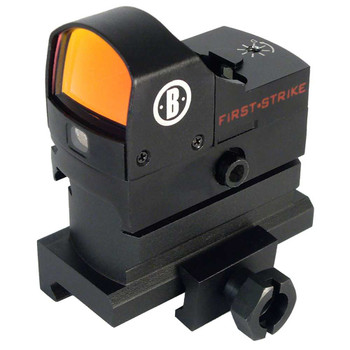 Bushnell First Strike Red Dot, 5 MOA, High Rise Mount, Fits Picatinny, Matte Black Finish AR730005, UPC : 029757740052