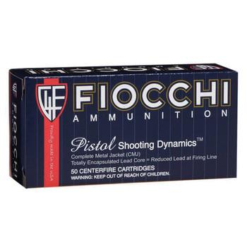 Fiocchi Ammunition Centerfire Pistol, 38 Special, 125 Grain, Copper Metal Jacket, 50 Round Box 38ACMJ, UPC :762344710952