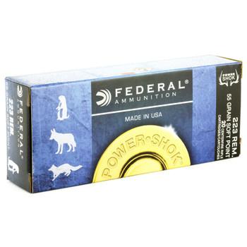 Federal PowerShok, 223REM, 55 Grain, Soft Point, 20 Round Box 223A, UPC : 029465084172