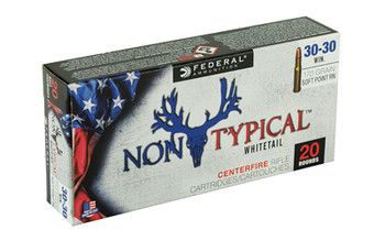 Federal Non Typical, 30-30, 170Gr, Soft Point, 20 Round Box 3030DT170, UPC :604544627022