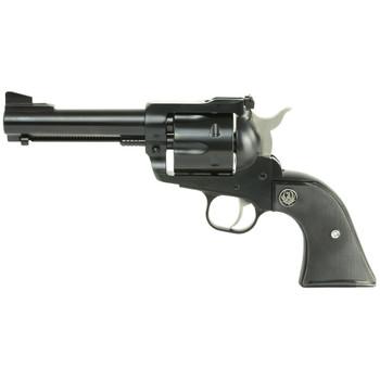 "Ruger Blackhawk Convertible, Single-Action Revolver, 357 Mag/9MM, 4.6"" Barrel, Blued Finish, Alloy Steel, Aluminum Frame, Black Checkered Hard Rubber Grips, Adjustable Rear & Ramp Front Sight, 6Rd 00308, UPC :736676003082"