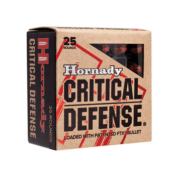 Hornady Critical Defense, 38 Special, 110 Grain, Hollow Point, 25 Round Box 90310, UPC : 090255903102
