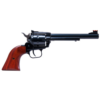 """Heritage Rough Rider, Single Action Army Revolver, 22LR/22WMR, 6.5"""" Barrel, Alloy Frame, Blue Finish, Wood Grips, Adjustable Sights, 6Rd, Right Hand 22MB6AS, UPC :727962500392"""