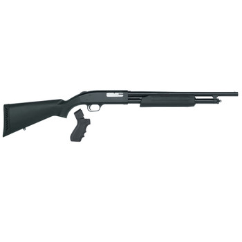 "Mossberg 500, Persuader, Pump Action, 20 Gauge, 3"" Chamber, 18.5"" Cylinder Barrel, Blue Finish, Synthetic Stock, Bead Sight, 5Rd, w/Pistol Grip 50452, UPC : 015813504522"