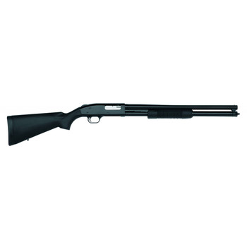 "Mossberg 500, Persuader, Pump Action, 12 Gauge, 3"" Chamber, 20"" Cylinder Barrel, Blue Finish, Synthetic Stock, Bead Sight, 7Rd 50577, UPC : 015813505772"