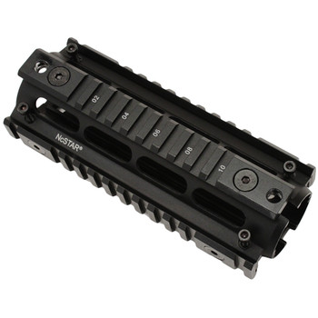 """NCSTAR Quad Rail Gen 3, Black, Includes Mounting Hardware Tool,Fits Most Carbine Length AR-15s, 6.7"""" Length, 9.9 oz., Drop-In Installation, Manufactured from 6063 Aluminum Alloy, Type II Anodized MAR4S, UPC :814108011802"""