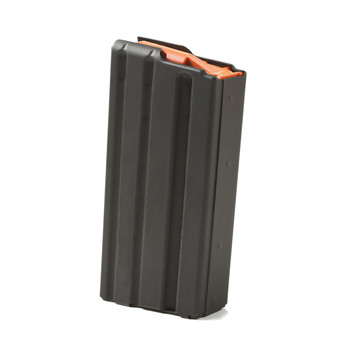 Ammunition Storage Components Magazine, 223 Rem, Fits AR-15, 10Rd Capacity with 20Rd Body, Stainless, Black. 223-20RD-L-10RD-SS, UPC :818805010632