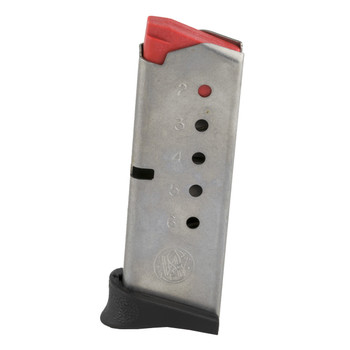 Smith  Wesson Magazine, 380ACP, 6Rd, Fits Bodyguard, Stainless 199300000, UPC : 022188144482