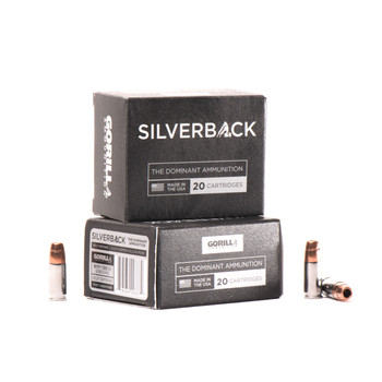 Gorilla Ammunition Company LLC Silverback Self Defense, 9MM, 135 Grain, Solid Copper Hollow Point, Lead Free, Subsonic, 20 Round Box SB9135SD, UPC :858934003372
