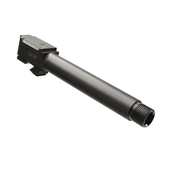 SilencerCo Threaded Barrel, 9MM, For Glock 17, Black, 1/2x28 TPI AC864, UPC :817272012002