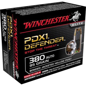 Winchester Ammunition Supreme Elite, 380ACP, 95 Grain, PDX1, 20 Round Box S380PDB, UPC : 020892218642