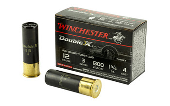 "Winchester Ammunition Double X High Velocity, Turkey, 12 Gauge, 3"", #4, 1.75oz, 10 Round Box STH1234, UPC : 020892012172"