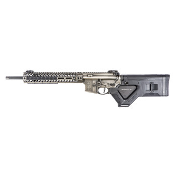 """Spike's Tactical Spartan, Semi-automatic Rifle, 223 Rem/556NATO, 16"""" Chrome Lined Barrel, 1:7 Twist, Nickel Boron Coated Battleworn Finish, HERA CQR Stock, MBUS PRO Sights, Spartan Lower Receiver, CMC Match Grade 2-Stage 2/3 Flat Trigger, Spike's Tac"""