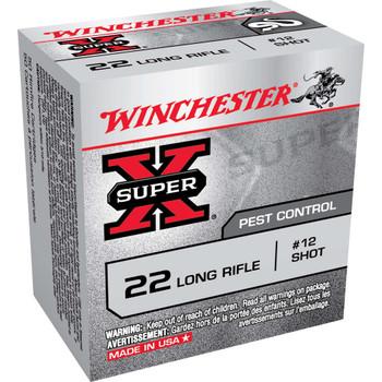 Winchester Ammunition Super-X, 22LR, #12 Shot, 50 Round Box X22LRS, UPC : 020892100312