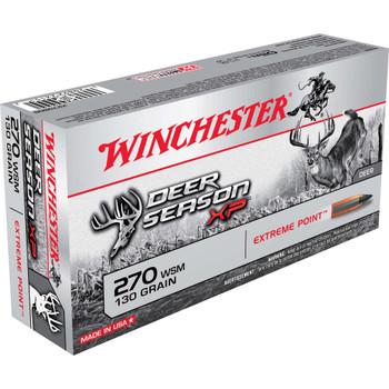 Winchester Ammunition Deer Season, 270 WSM, 130 Grain, Extreme Point Polymer Tip, 20 Round Box X270SDS, UPC : 020892221512